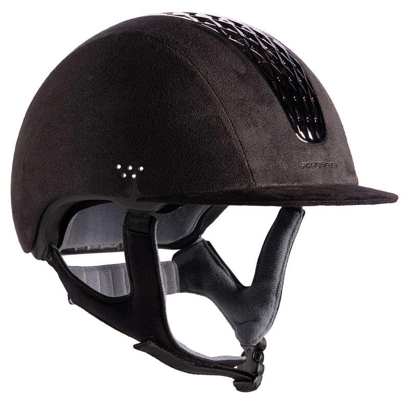 RIDER HELMETS - 520 Strass Riding Helmet Grey FOUGANZA