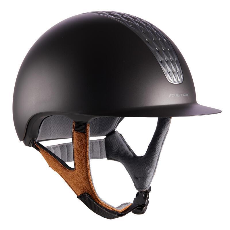 Jezdecká přilba 520 šedo-béžová