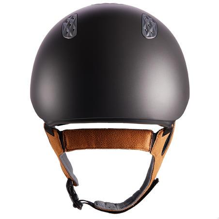 520 Horse Riding Helmet - Grey/Camel