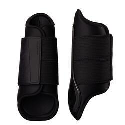 Gesloten peesbeschermers voor paard en pony zwart 500 X2
