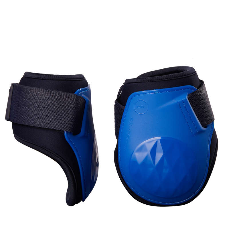 HORSE LEGS/ FOOT PROTECTION Horse Riding - 500 Fetlock Boots - Royal Blue FOUGANZA - Saddlery and Tack