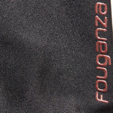 Žirgo ausinukas, tamsiai raudonas, su dirbtiniais deimantais
