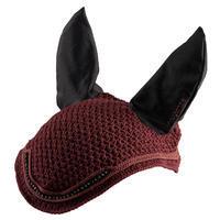 Horse Ear Net - Burgundy Rhinestones
