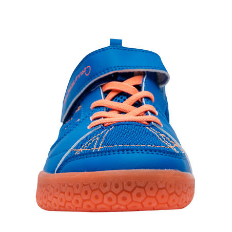 JUNIOR BADMINTON SHOES BS 160 BLUE ORANGE