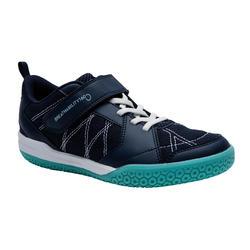 Badmintonschoenen voor kinderen BS 160 marineblauw groen