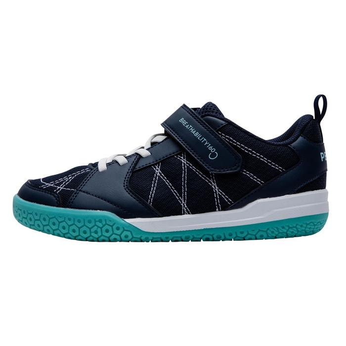 Badmintonschoenen voor kinderen BS 160 marineblauw/groen