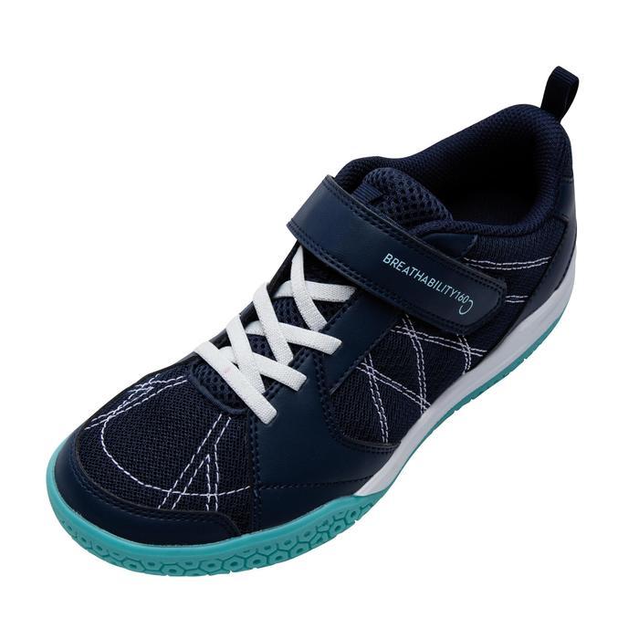 兒童款羽球鞋BS 160-藍綠配色