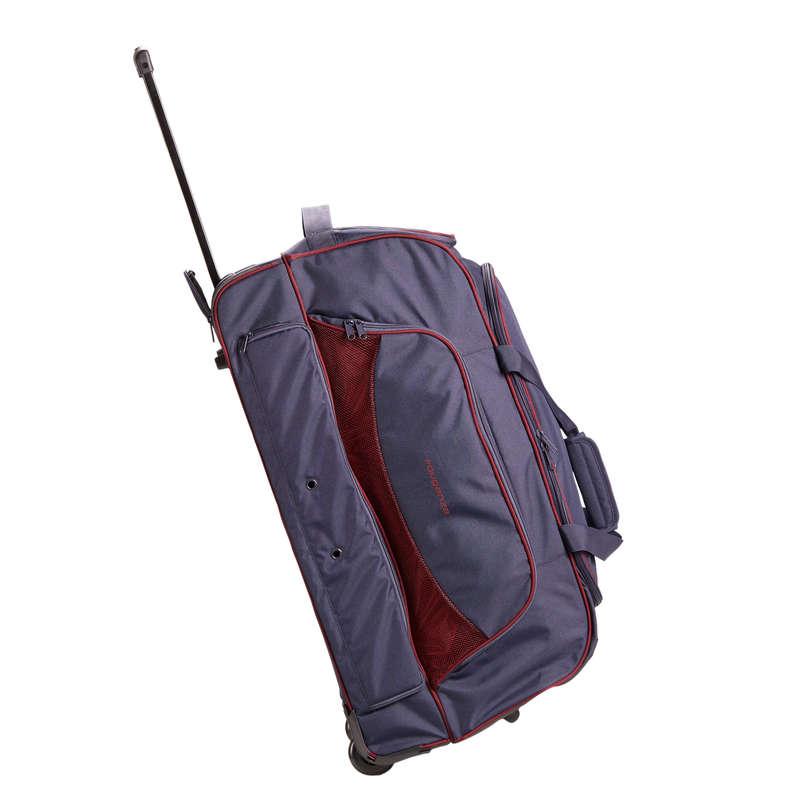 TRANSPORT UTRUSTNING RYTTARE Ridsport - Väska TROLLEY 80 L marinblå FOUGANZA - Ryktningsmaterial