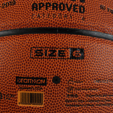 BT500 Size 6 FIBA Basketball Brown