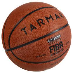 Balón Baloncesto Tarmak BT500 Talla 6 Marrón FIBA