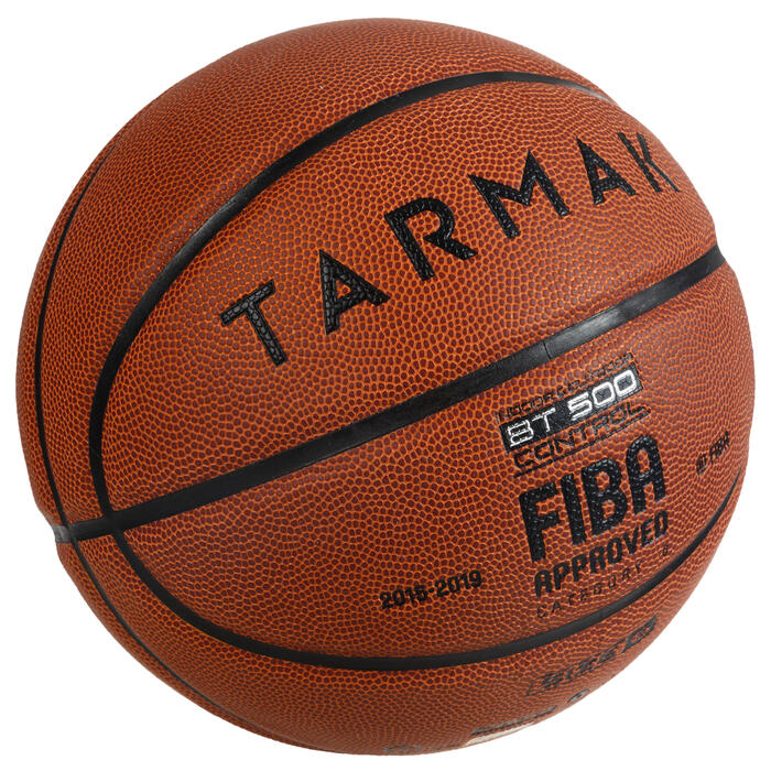 Ballon de basket BT500 taille 6 marron Fiba