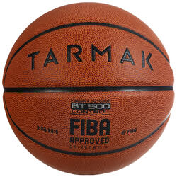 Size 6 FIBA Basketball BT500 - Brown