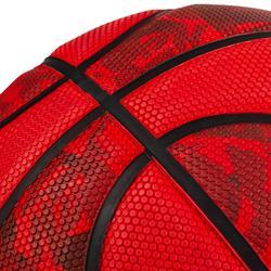 Ballon de basket enfant R300 taille 5 rouge jusqu'à 10 ans pour débuter.