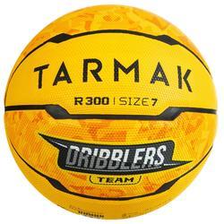Balón Baloncesto Tarmak R300 Talla 7 Amarillo Iniciación Resistencia