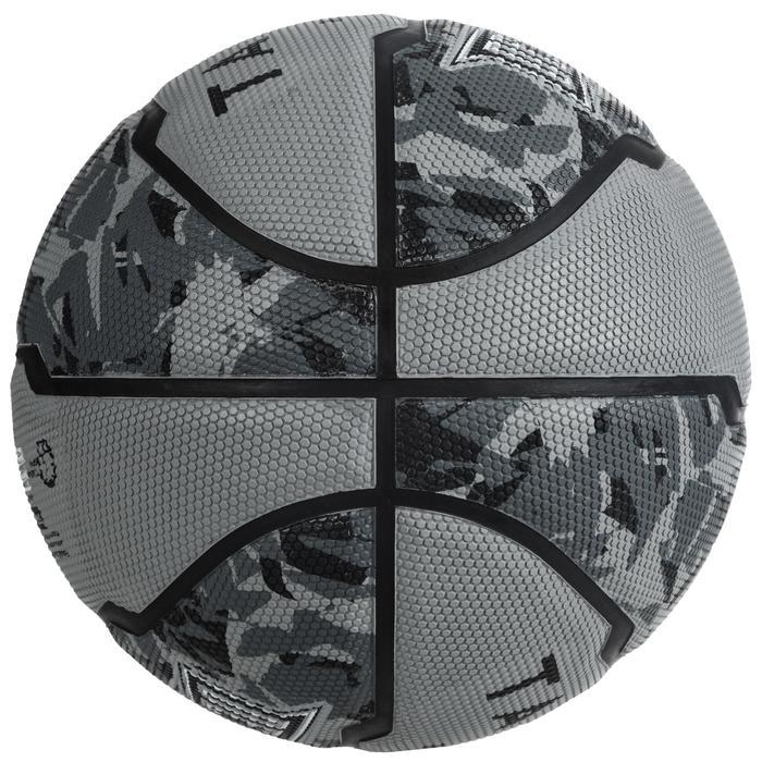 Balón baloncesto R300 talla 6 gris para niñas, niños y mujeres, para iniciarse
