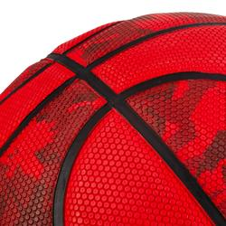 Balón de baloncesto hombre R300 talla 7 rojo, para iniciarse a partir de 13 años