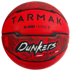 R300 Size 7 Basketball for Beginners aged 13 and up - Red.