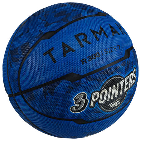 Ballon de basket homme R300 taille 7 bleu à partir de 13 ans pour débuter.
