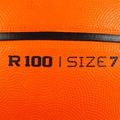 Kids'/Adult Size 7 Basketball R100 - Orange.