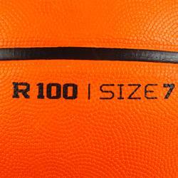 Basketball R100 robust Größe 7 Erwachsene Einsteiger orange