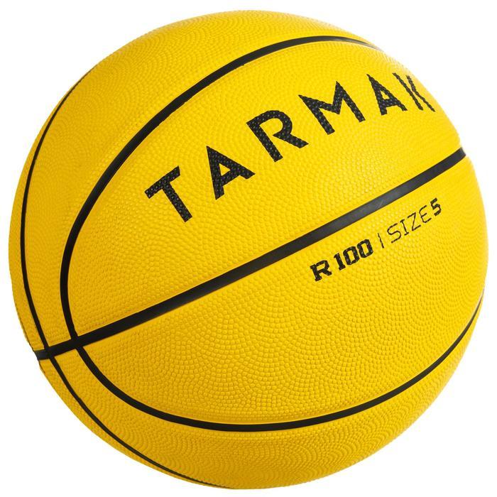 Basketball R100 Größe5 Kinder gelb Einsteiger robust