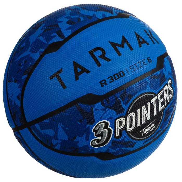 Balón baloncesto R300 talla 6 azul, para niñas, niños y mujeres, para iniciarse