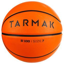 成人款7號耐用初階籃球R100-橘色