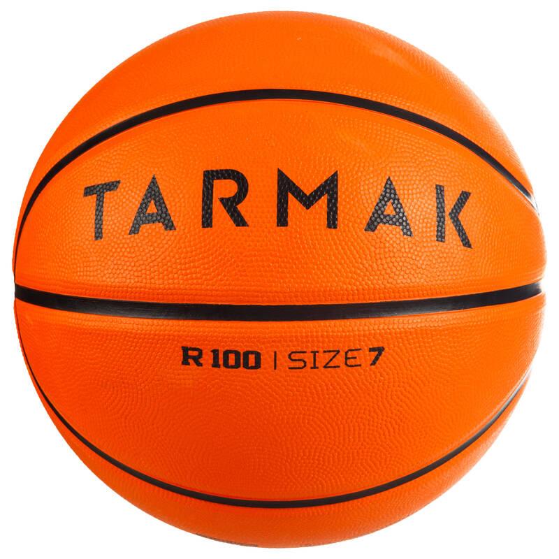 BASKETBALOVÉ MÍČE Basketbal - MÍČ R100 VEL. 7 ORANŽOVÝ TARMAK - Basketbalové míče