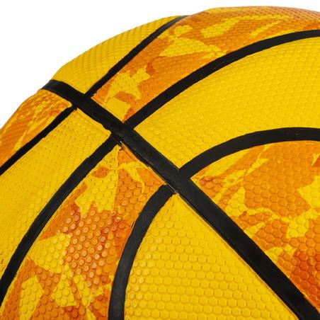 Balón básquet R300 talla 6 amarillo, para niñas, niños y mujeres, para iniciarse