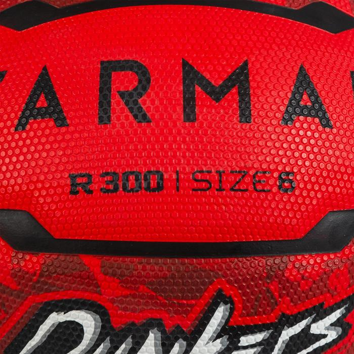 Balón de baloncesto R300 talla 6 rojo para niños, niñas y mujeres en iniciación