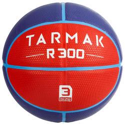 R300 Kids' Size 3 Basketball - Merah untuk anak di atas 6 tahun