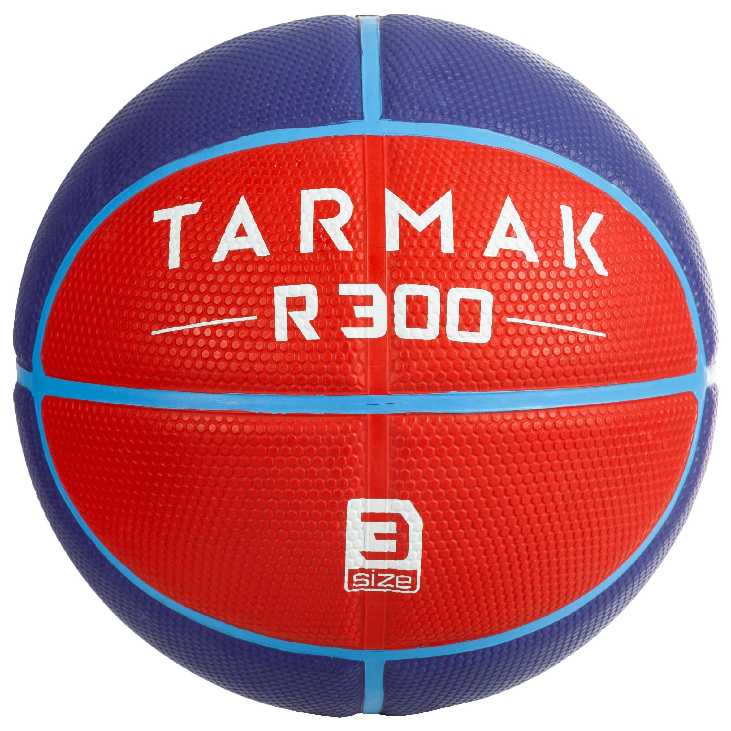 Basketball R300 Größe 3 rot für Kinder bis 6 Jahre