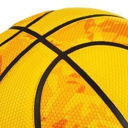 Basketbal R300 maat 5 geel voor beginners, kinderen tot 10 jaar