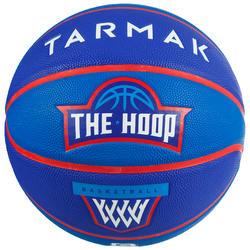 Ballon de basket enfant Wizzy blason bleu navy taille 5 jusqu'a 10 ans.