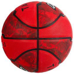 Basketbal voor beginners R300 maat 7 rood heren en jongens vanaf 13 jaar