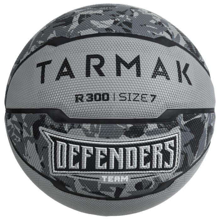 Balón de baloncesto hombre R300 talla 7 gris a partir de 13 años, para iniciarse