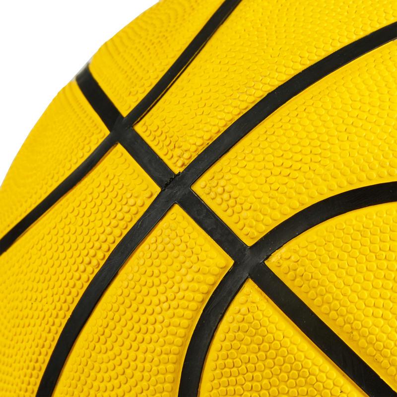 Quả bóng rổ R100 cỡ 5 và 7 - Vàng Hoàn hảo cho người mới tập. Bền