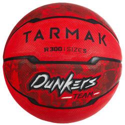 Basketbal R300 maat 5 rood voor beginners, kinderen tot 10 jaar