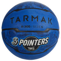 Balón de básquetbol niños R300 talla 5 azul hasta 10 años para iniciación