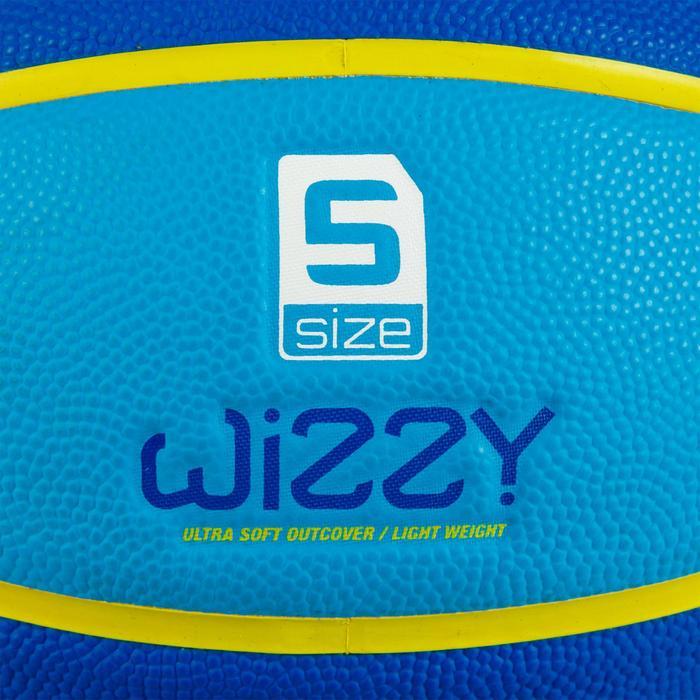 Ballon de basket enfant Wizzy blason vert taille 5.