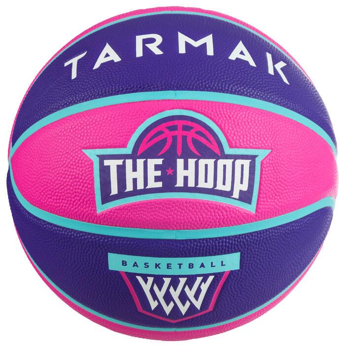 Ballon de basket enfant Wizzy blason rose violet taille 5.