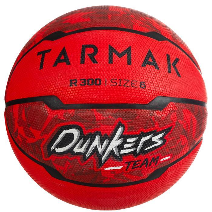 Ballon de basket R300 taille 6 rouge pour fille garçon et femme pour débuter