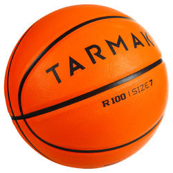 R100 Adult Size 7 Durable Basketball Perfect for Beginners - Orange