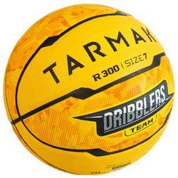 Basketbal voor beginners R300 maat 7 geel heren/jongens vanaf 13 jaar