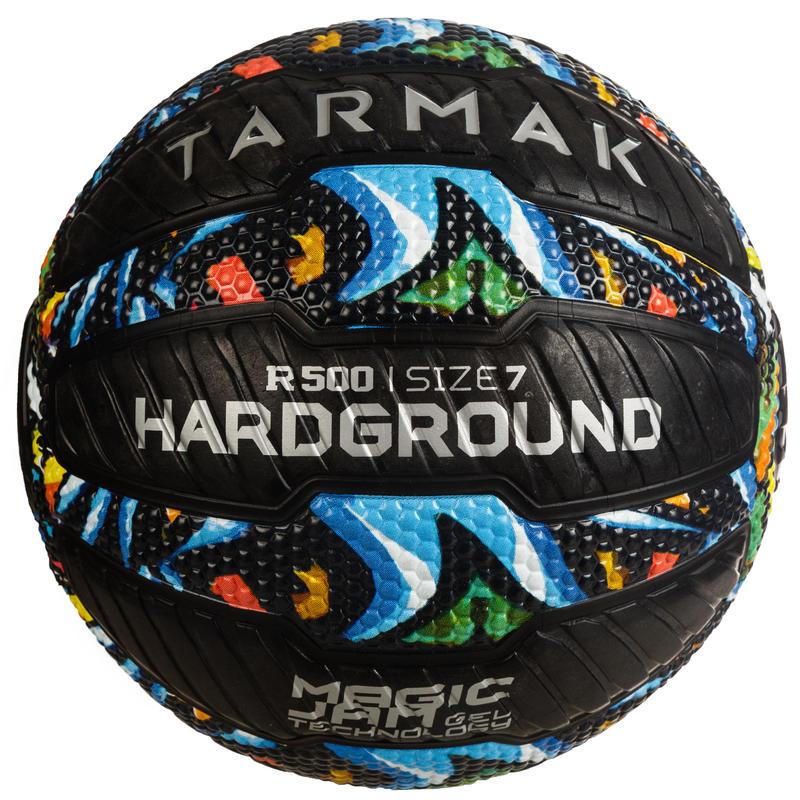 Basketbalový míč přilnavý R500 velikost 7 Hardground graffiti