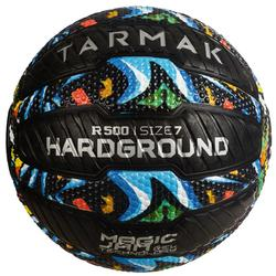 Basketball R500 Größe 7 Hardground selbstreparierend Erwachsene graffiti