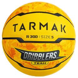 Balón Baloncesto Tarmak R300 Talla 5 Amarillo Iniciación Resistencia