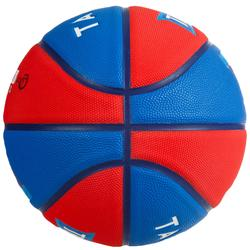 Wizzy Kids' Size 5 Basketball - Blazon Red/Blue