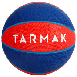 Minibalón de básquetbol júnior Mini B talla 1, hasta 4 años. Rojo