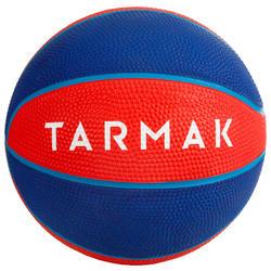 Mini Balón Baloncesto Tarmak K100 Caucho Talla 1 Rojo Azul
